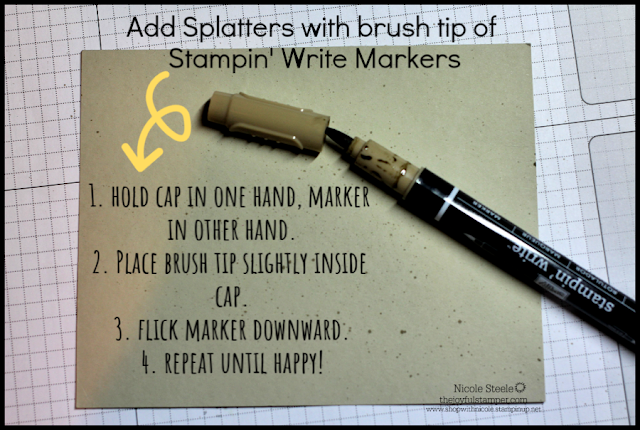 Using Your Stampin' Write Markers to create a splattered background