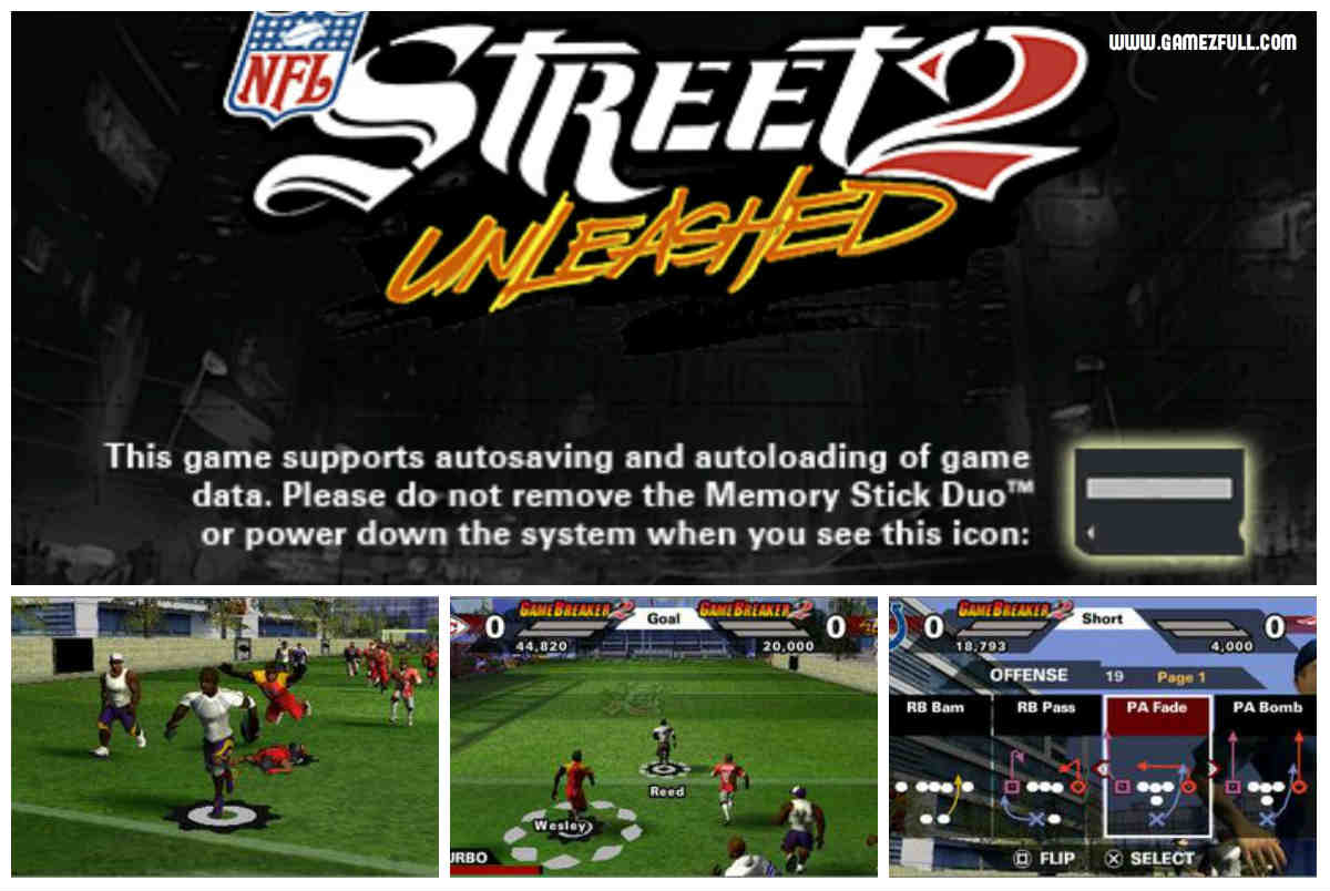 capturas NFL Street 2 Unleashed psp