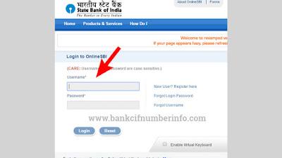 Visit SBI internet banking