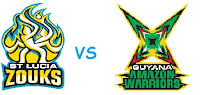 Guyana Amazon Warriors vs St Lucia Zouks, 13th Match