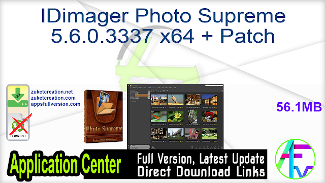 IDimager Photo Supreme 5.6.0.3337 x64 + Patch