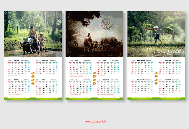 Download Kalender 2020 Format CDR dan AI
