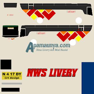 Livery bus titanium trisakti kalisari