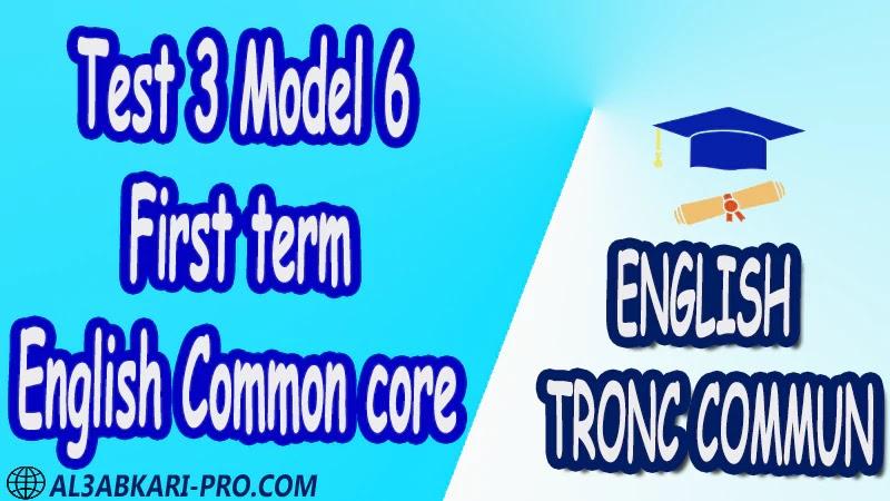 First term english tests English Common core anglais tronc commun sciences technologies lettres sciences humaines Nouns Pronouns Tenses Verbs Varied