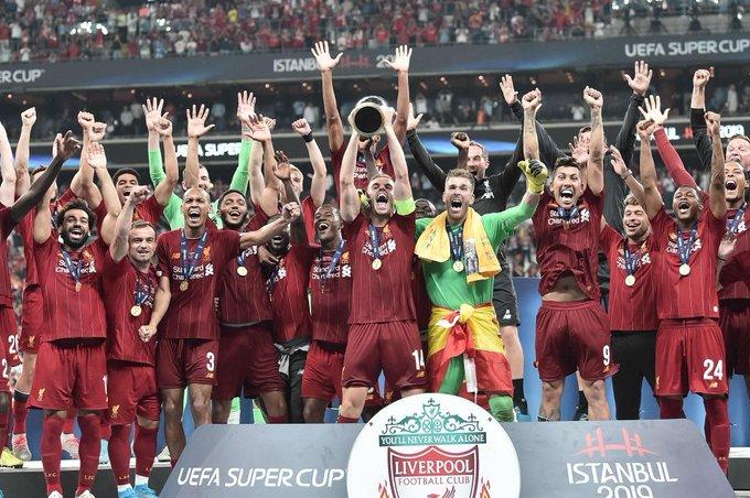 تتويج فريق ليفربول وحصوله على كأس السوبر الاوروبي