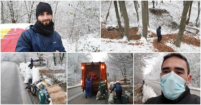 VIDEO Ziua Națională a României sărbătorită curățând pădurea de gunoaie