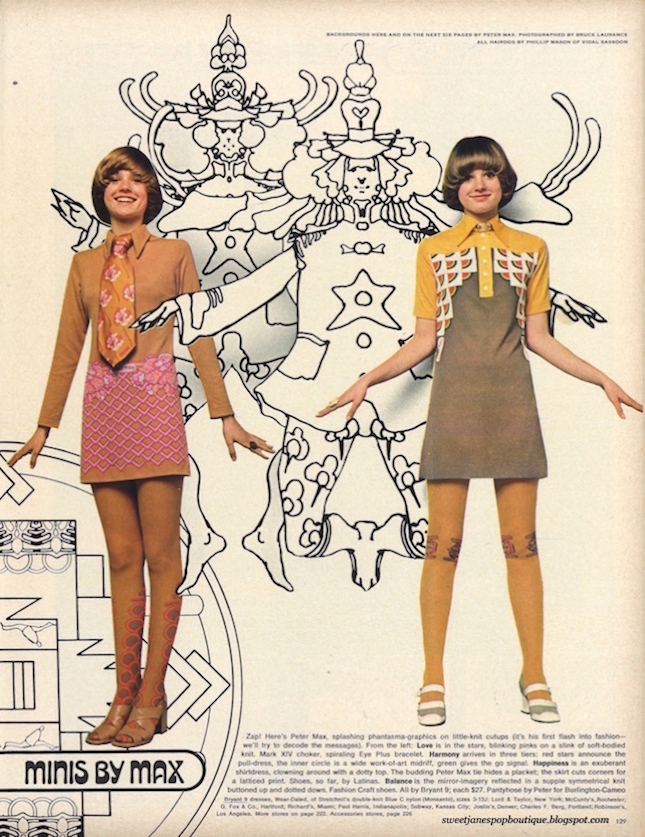 POP FASHION, MINI DRESS, MODEL, 1970,