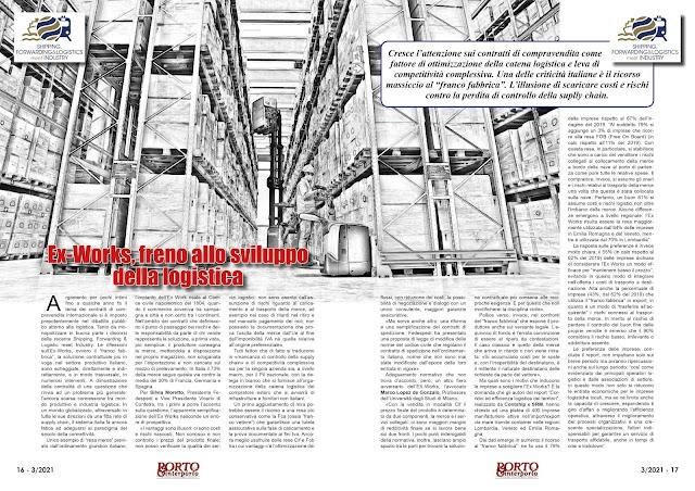 MARZO 2021 PAG. 16 - Ex-Works, freno allo sviluppo della logistica