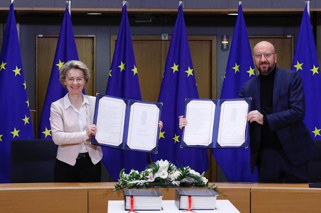 UK signs post Brexit trade deal with the European Union