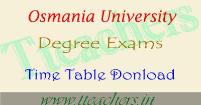 OU degree 2nd sem time table 2017 hall tickets results download