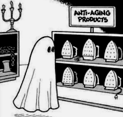 Funny Ghost Anti-aging Products Cartoon Joke Picture