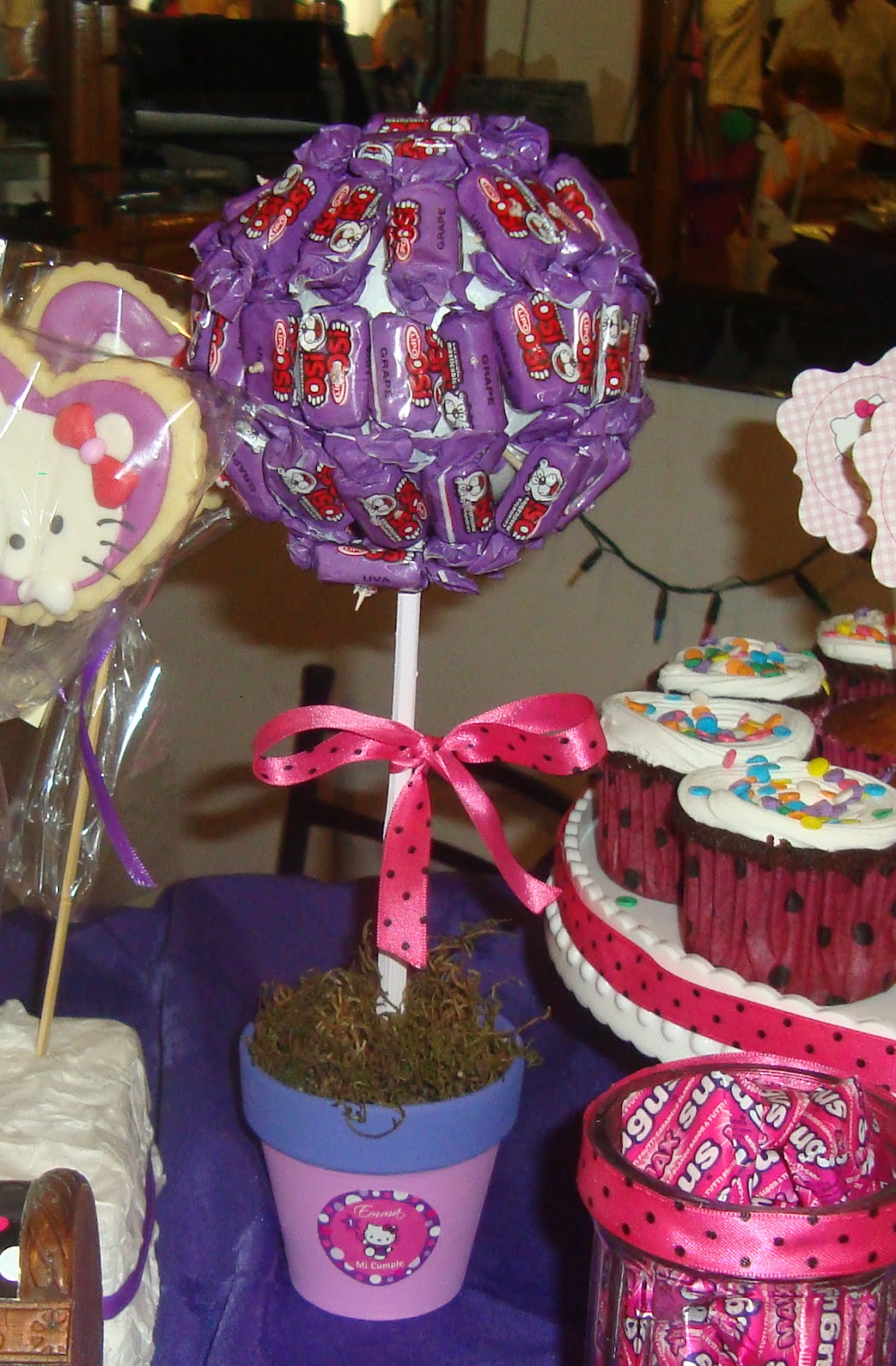 Noloce Ideas Creativas Candy Bar Kitty En Fuxia Y Violeta