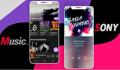 La aplicación Música de Sony