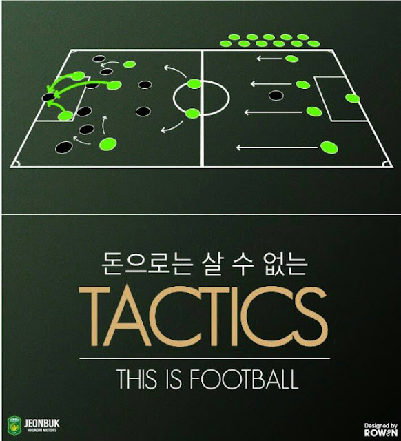 It seems also that Seongnam's had ten men. One of them must've been bought at half-time. Apparently another striker as well because we all know Jeonbuk does not have enough of these. (Photo Credit: Jeonbuk's Official Facebook Page