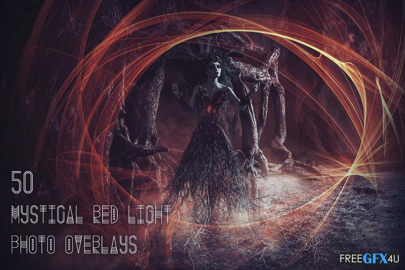 50 Mystical Red Light Photo Overlays