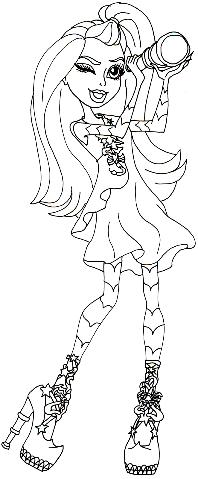 monster high gigi coloring pages - photo#10