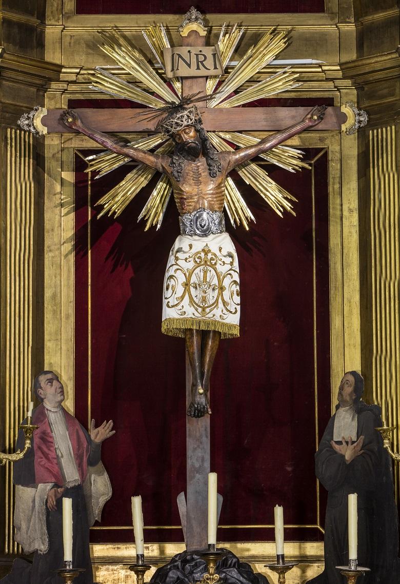 Cristo que preside el retablo de la iglesia de Santa Eulalia