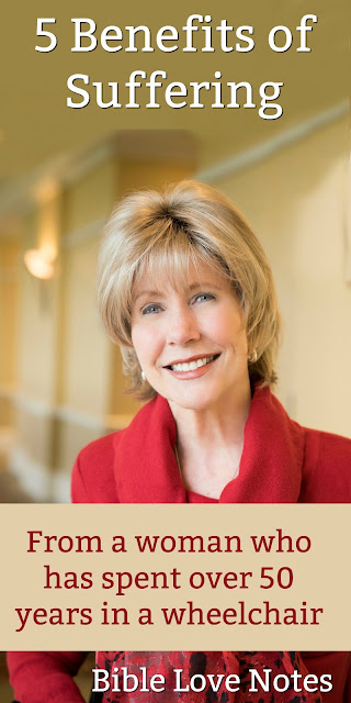 Joni Eareckson Tada understands suffering like few others. Let her encourage you with these Biblical truths. #suffering #Bible #Joni