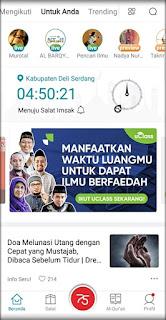 tampilan fitur menu aplikasi komunitas muslim umma