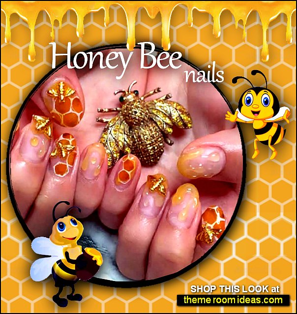 3D Nail Art Honey Bee Manicure Jewelry nail decoration bee decal stickers bee nail design