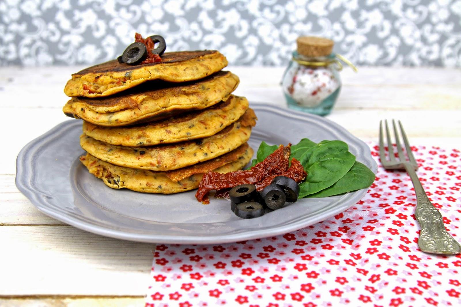 Placuszki z suszonymi pomidorami i oliwkami