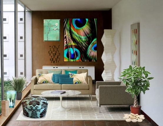 Eye For Design: Decorate Your Home With The Color Peacock Blue