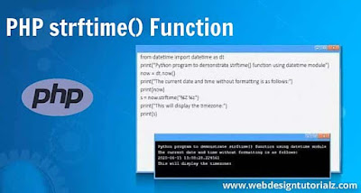 PHP strftime() Function