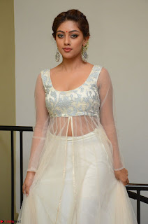 Anu Emmanuel in a Transparent White Choli Cream Ghagra Stunning Pics 128.JPG