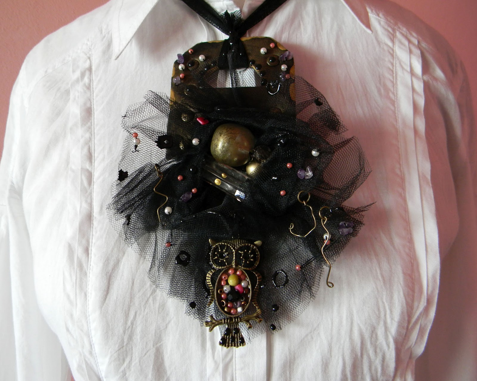 Black Orchid Statement Necklace/Gothic Inspired