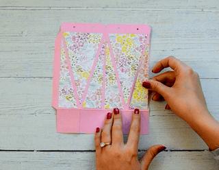 Adding the decorative paper
