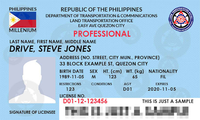 List of Qualifications Requirements & Procedures to get Professional Driver's License - LTO