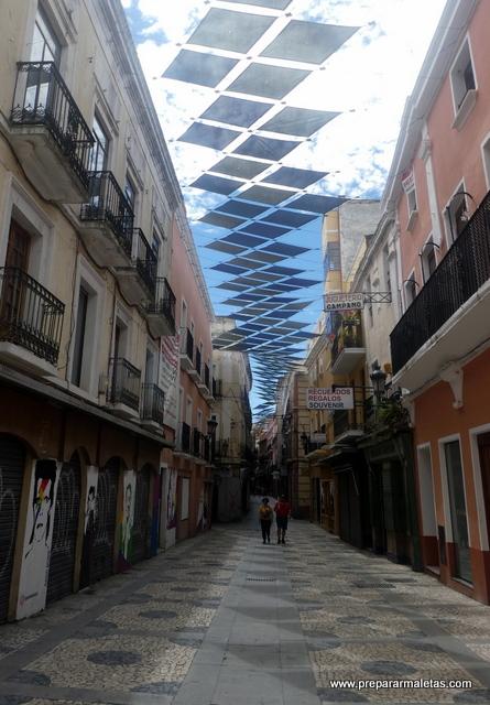 calles comerciales y peatonales de Badajoz