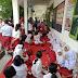 Di duga keracunan Bau Busuk Metrius ,39 Siswa/i SDN Desa Cinta Damai Saat Melakukan Upacara Di Sekolah