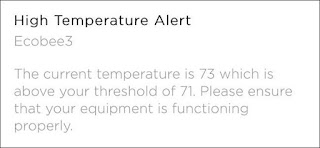 Temperature and humidity warning