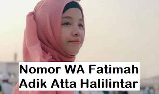 Nomor Whatsapp Kak Fatim Halilintar