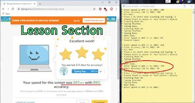 typing.com cheat in lessons