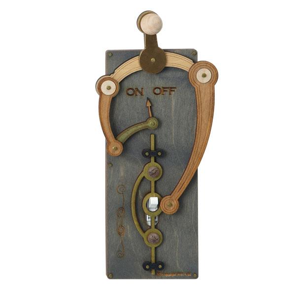 Steampunk toggle switchboard