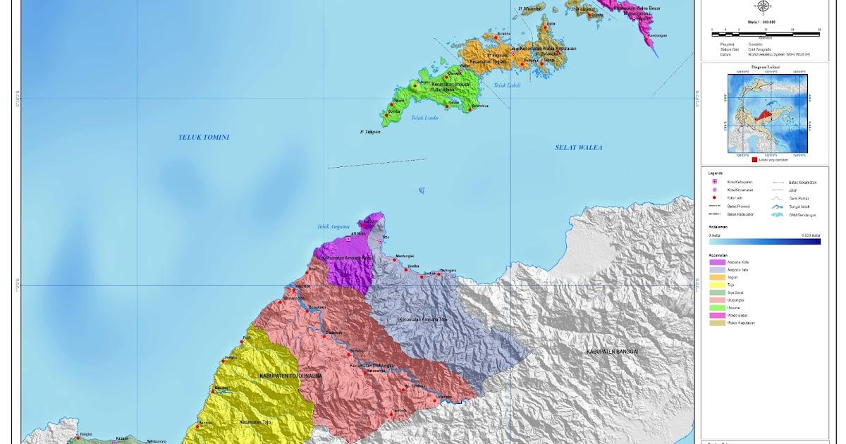 Peta Kota: Peta Kabupaten Tojo Una-una