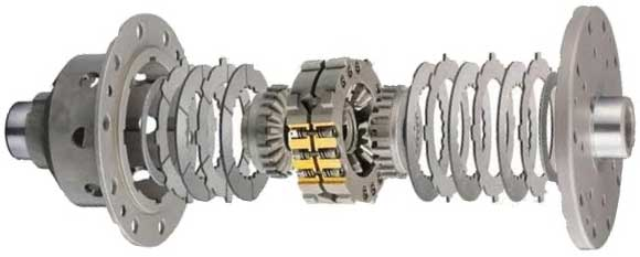 Limited slip differential with friction clutches