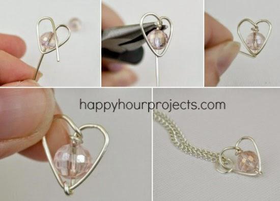 corazon, alambre, colgante, tutorial