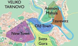 Mapa de Veliko Tarnovo.