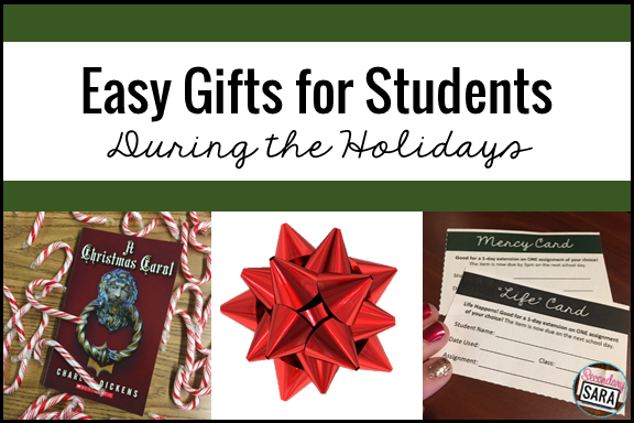Teach secondary students? Giving them gifts doesn't have to be challenging or time-consuming! I walk you through the thought process of determining why you want to give a gift, and then I share a few easy ideas for gifts for older students. Get all the ideas in this post!