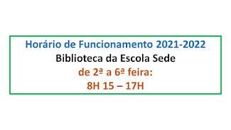 HORÁRIO DA BIBLIOTECA ESCOLAR