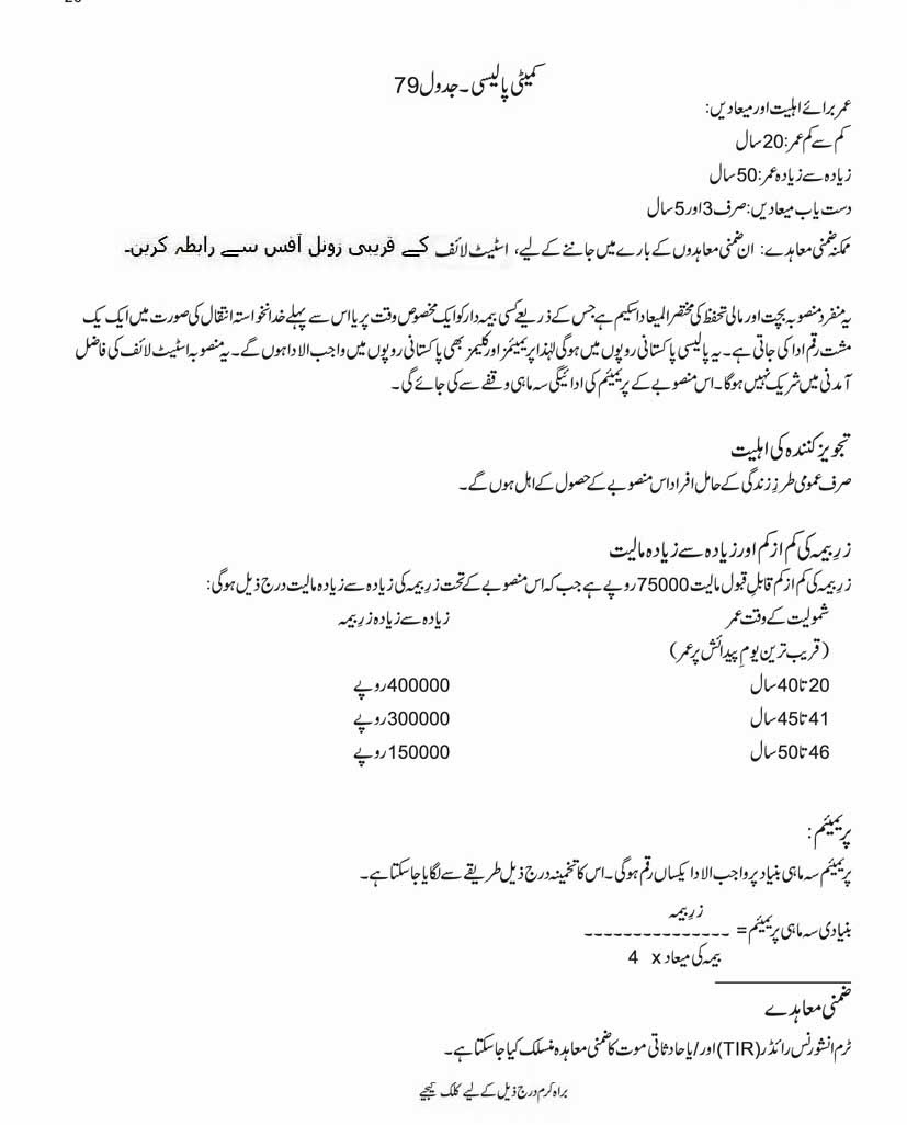 Life Insurance Policies State Life Insurance Policies In Urdu