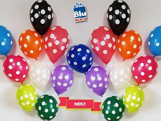 Baloane divers colorate cu buline pe care le poti comanda de la Blu Party Bucuresti