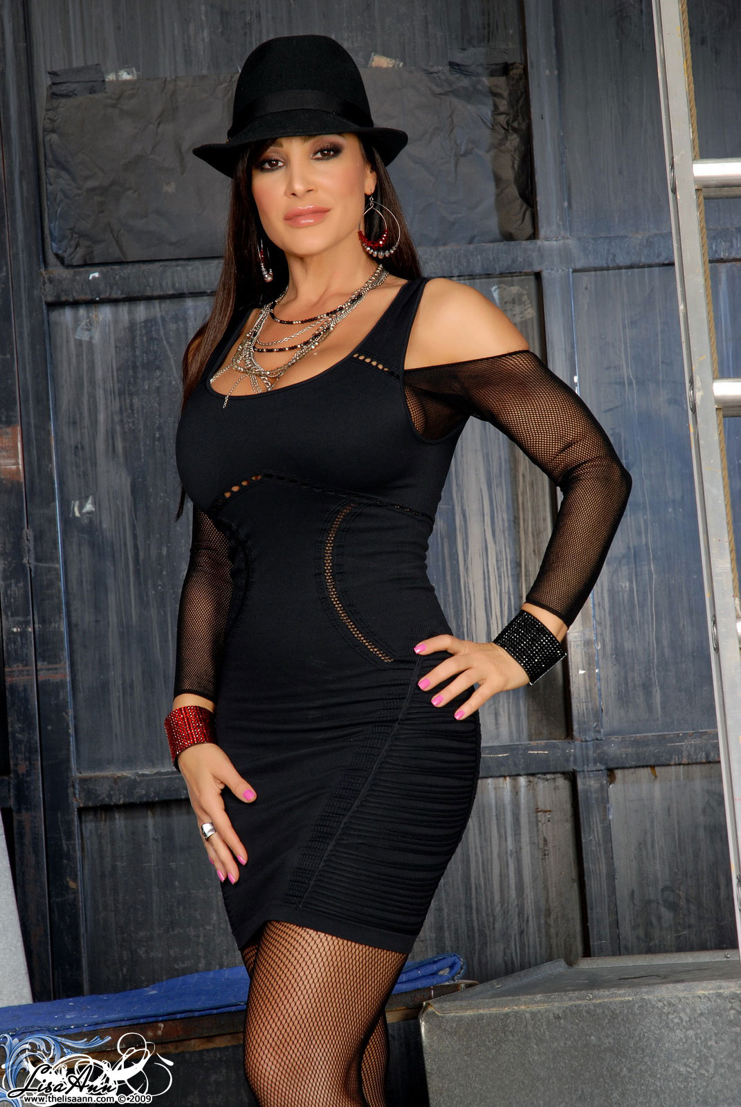 Lisa Ann Red Coat - LISA ANN - The Gorgeous Pornstar
