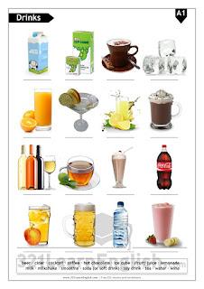 ESL handout/worksheet: Drinks/beverages (basic) - Level: A1 - 321learnenglish.com