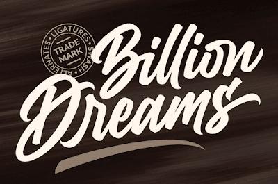 Billion Dreams Font
