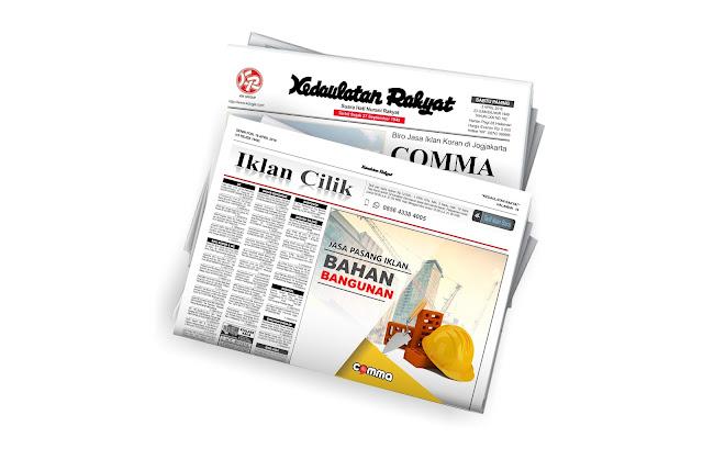 iklan bahan bangunan koran kedaulatan rakyat jogja