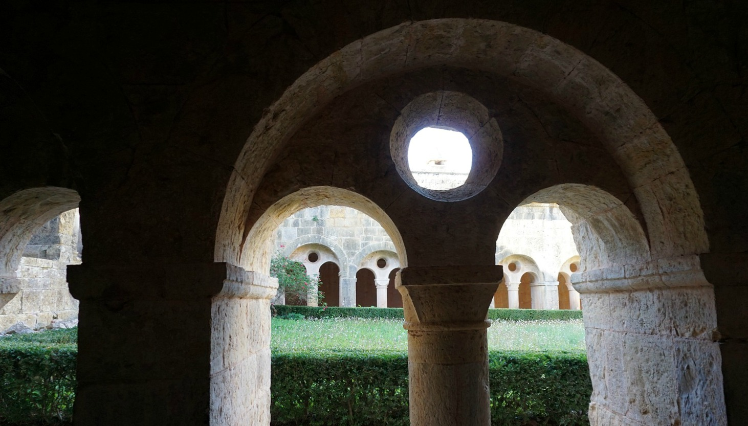 View of Le Thoronet Abbey inner garden